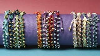 getlinkyoutube.com-Bollywood Macramé Bracelet