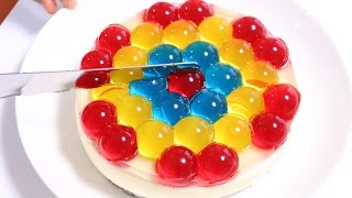 getlinkyoutube.com-Jewel Orbeez JELL-O Cake ジュエル オービーズケーキ