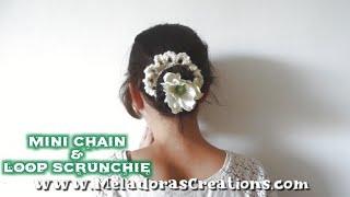 getlinkyoutube.com-How to Crochet a Scrunchie : Mini chain and Loop