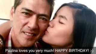 getlinkyoutube.com-Happy Birthday to the best Dad VIC SOTTO/ April 28, 2013