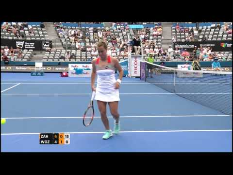 Barbora Zahlavova Strycova v Caroline Wozniacki highlights (1R) - Apia International Sydney 2015