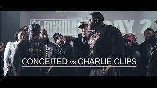 KOTD - Rap Battle - Conceited vs Charlie Clips | #Blackout4