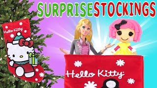 getlinkyoutube.com-STOCKING SURPRISES - Hello Kitty Barbie Lalaloopsy Playmobil Frozen Disney Princess My Little Pony