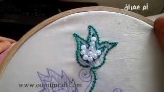 getlinkyoutube.com-طريقة عمل الشدة في الطرز الرباطي مع ام عمران tarz rbati Arab Embroidery