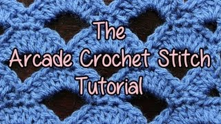 getlinkyoutube.com-How to crochet the Arcade Stitch - Crochet Lessons