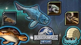 getlinkyoutube.com-Aquatic Creatures List   Jurassic World - The Game   #82