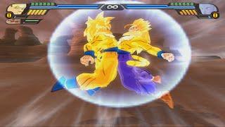 getlinkyoutube.com-Goku SSJ4 Golden And Gohan SSJ4 Golden Fusion   Gokhan SSJ4 Golden   DBZ Tenkaichi 3 (MOD)