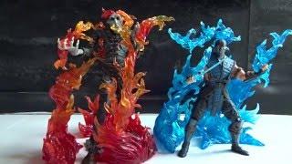 getlinkyoutube.com-Bandai Tamashii Nations Effect Burning Flames - Red & Blue Version Review