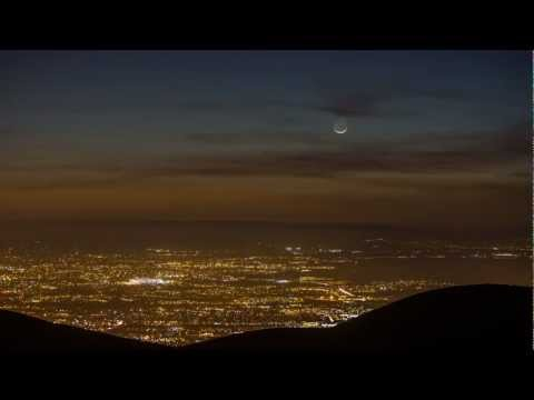 Comet PANSTARRS 12 March 2013 time lapse - HD viewing required