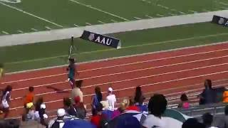 Tamari Davis 13 yr old girls national record holder 100 meters time 11.87 #AAUJROGames