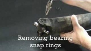getlinkyoutube.com-Drive line center bearing & U-joint removal