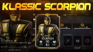 getlinkyoutube.com-Klassic Scorpion! Mortal Kombat X (MKX) 1.6! IOS Android Gameplay!