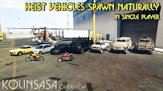 getlinkyoutube.com-GTA 5 Heist Vehicles Spawn Naturally in Single Player