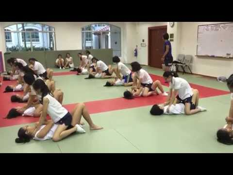 Nanyang Girls learning Trap and Roll from yunquan, Kapap Academy