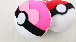 getlinkyoutube.com-★ DIY POKE BALLS ★  HOW TO MAKE POKEBALL KEY CHAINS ★ POKEMON GO ★