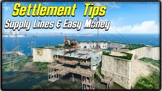getlinkyoutube.com-Fallout 4 Settlement Tips #2 - SUPPLY LINES EXPLAINED, BEST & EASIEST MONEY METHOD & MAX POPULATION!