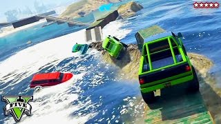 getlinkyoutube.com-GTA 5 Impossible Ocean Race!! RAGE ON THE SEA! Try Harding w/The Crew GTA 5 Funny Moments