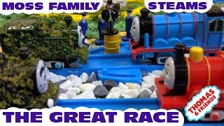 "getlinkyoutube.com-Thomas and friends ""The Great Race | Sodor Steams VS Moss Tom Family"""