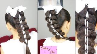getlinkyoutube.com-Cola Trenzada Con Cinta - Braided Ponytail   Peinados Faciles y Rapidos   Peinados con Trenzas