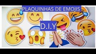 Como fazer plaquinhas de Emiticons/Emoji Whatsappp para festas