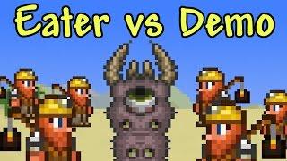 getlinkyoutube.com-[Terraria] 100 Demolitionists vs Eater of Worlds