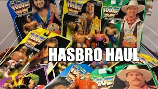 getlinkyoutube.com-HUGE WWF HASBRO Wrestling Figures HAUL! Rare Green Card series, Bret Hart, Ultimate Warrior!