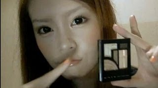 "getlinkyoutube.com-Brown×Gold makeup using the""KATE real create eyes""-ブスを誤魔化すアイメイク-"