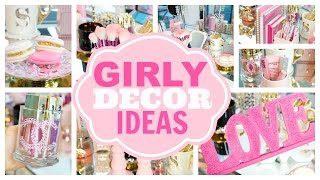 getlinkyoutube.com-Girly Decor Ideas for Beauty Rooms and Office Space - SLMissGlam♥♥