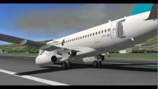 getlinkyoutube.com-MiSO X-Plane Sukhoi Superjet 100(Nose gear failure)