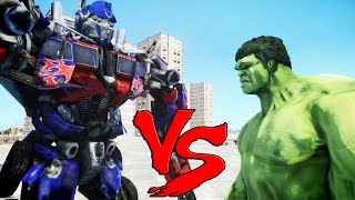 getlinkyoutube.com-THE INCREDIBLE HULK VS OPTIMUS PRIME (Transformers)