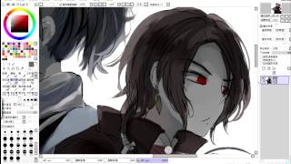 getlinkyoutube.com-刀剣亂舞 沖田組_SAIで描いてみた  繪圖過程