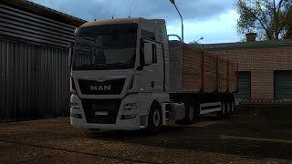 getlinkyoutube.com-ETS 2 - MAN TGX Euro 6 delivering lumber from Nowogard to Esbjerg