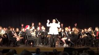 CPHS Holiday Concert Band performance 12-19-17
