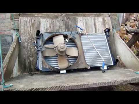 Радиатор от НИВА на Mazda 626