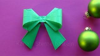 getlinkyoutube.com-Origami Weihnachten Basteln Ideen: Schleife falten - DIY zum Geschenke einpacken