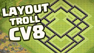 getlinkyoutube.com-LAYOUT TROLL CV8 PRISÃO DA MORTE - CLASH OF CLANS