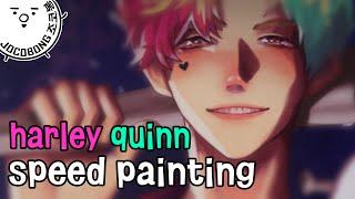 getlinkyoutube.com-[조코봉] 캐릭터캐치: 할리퀸(ts) 핑크&민트 | speedpaint harley Quinn pink&mint