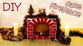 getlinkyoutube.com-DIY Fake Fireplace With Faux Fire – Cozy Room Decor Tutorial
