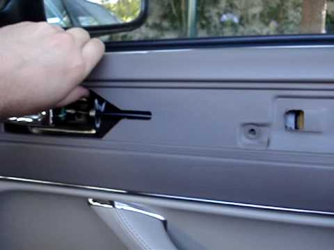 Jaguar XJ Series - removing the top trim of the doors