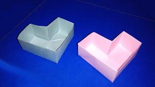 Great ideas for gifts. Heart box - Easy to do. Origami  box. Cajita corazón