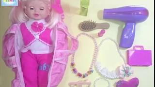 getlinkyoutube.com-العاب اطفال لعبة تزيين عروسة تلبيس عروسة  baby games Play Set makeup with new styling