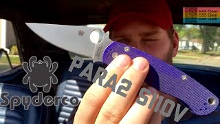 "Review: Spyderco Paramilitary 2 S110V ""Sharpest Knife From Factory, But Do You Even Blurple??"""