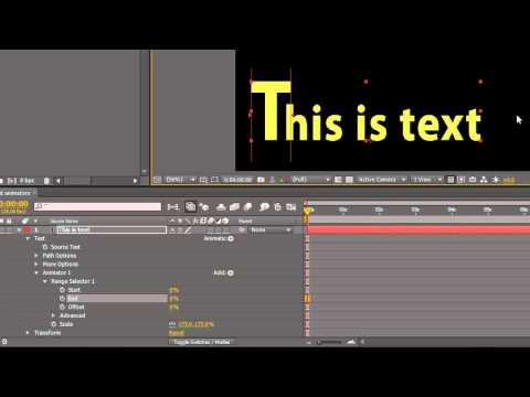 Text Range Selectors in After Effects
