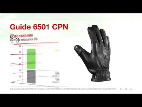 Guide CPN 6501 Leather Gloves For Police And Security Guards Personal Protection