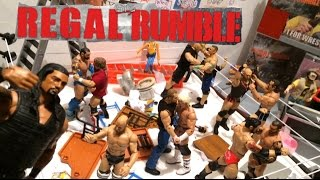 getlinkyoutube.com-GTS WRESTLING: REGAL RUMBLE! WWE Figure Matches Animation PPV Event! Mattel Elites