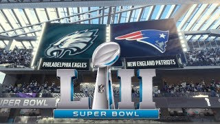 Super Bowl LII 4K New England Patriots vs Philadelphia Eagles Madden NFL 18 2018