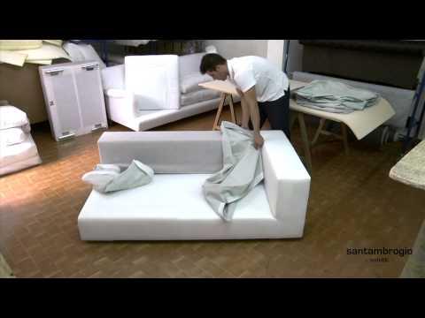 Come rivestire un divano angolare fai da te mania - Come coprire un divano rovinato ...