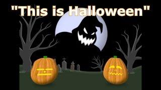 getlinkyoutube.com-This Is Halloween - Singing Pumpkins Halloween light show 2012