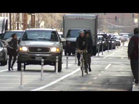 Thumbnail image for 'Video: Dearborn Street Protected Bike Lane'