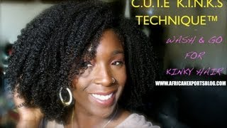 getlinkyoutube.com-BEST Wash and Go for KINKY hair EVER | C.U.T.E  K.I.N.K.S Technique™